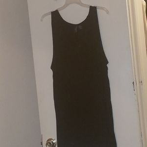 Black tank top with a small pocket on chest
